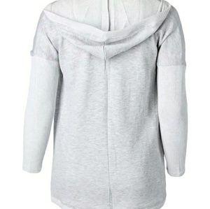 Marika Curves Athletic wear fleece hoodie cardigan
